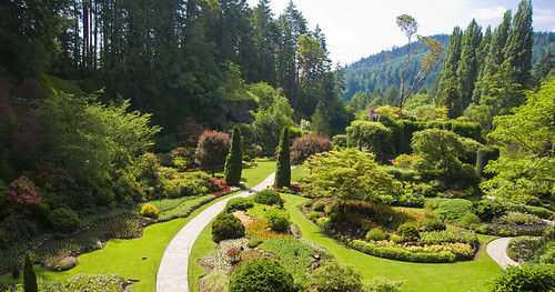 View of the Sunken Gardens in Butchart Gardens