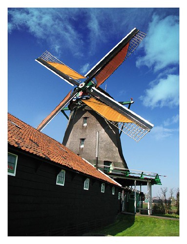 The most beautiful windmill in Zaanse Schans by you.