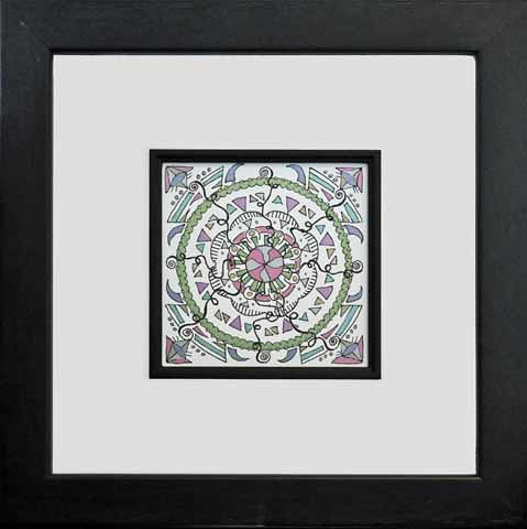 mandala 18 (framed) marker & ink on paper (c) 2009 Lynne Medsker