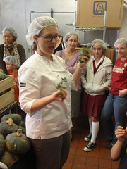 Jeni discusses and shows some of the fresh ingredients used in the ice cream recipes