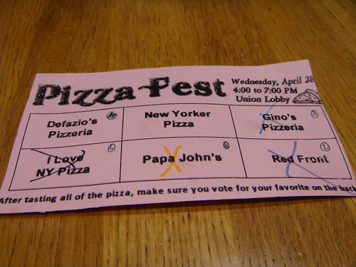 RPI Pizza Fest 2010 - The Pizza Card
