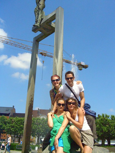 Me, Marshall, Anne-Caroline and Anaelle at our brief stopover in Ghent