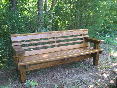 Joe Richardson of Ruston is building our benches for the park. You can purchase one to dedicate to a friend or family member.