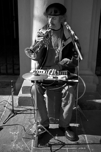 One Man Band in Jackson Square,NOLA