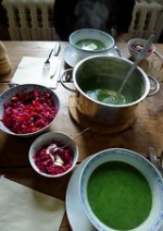 Nettle soup & beetroot