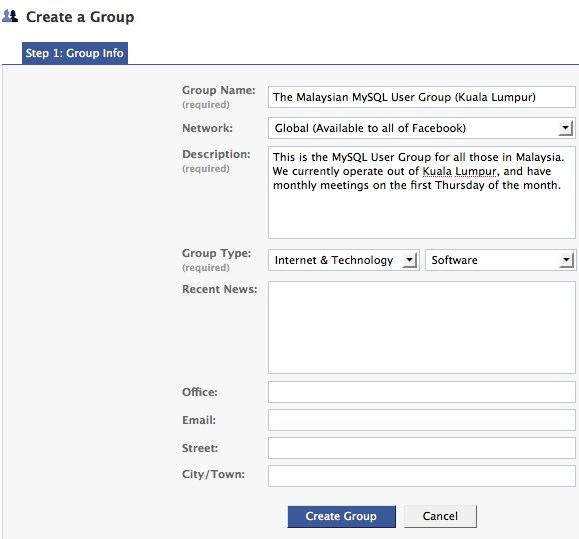Facebook | Create a Group