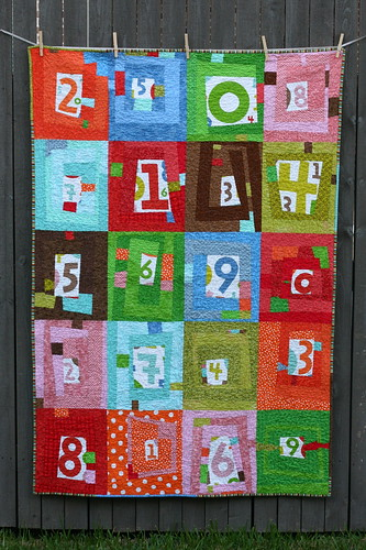 FINISHED! Numbers Quilt