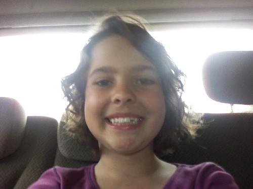 Katie's hair cut