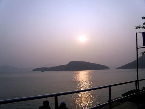 sunset in hk ocean park