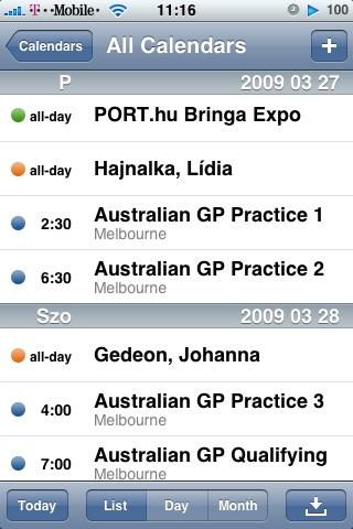 Google Calendar iPhone-n