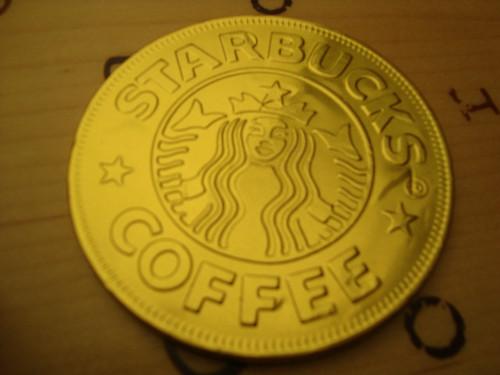 Starbucks choco coin