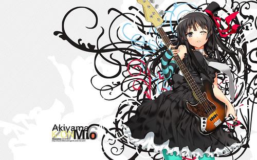 Konachan.com - 48383 akiyama_mio bass ch@r k-on!