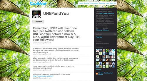 PNUD / UNEP : Twitter trees