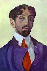 Somov, Constanin (1869-1939) - 1909 Portrait of Mikhail Kuzmin (Tretyakov Gallery, Moscow)