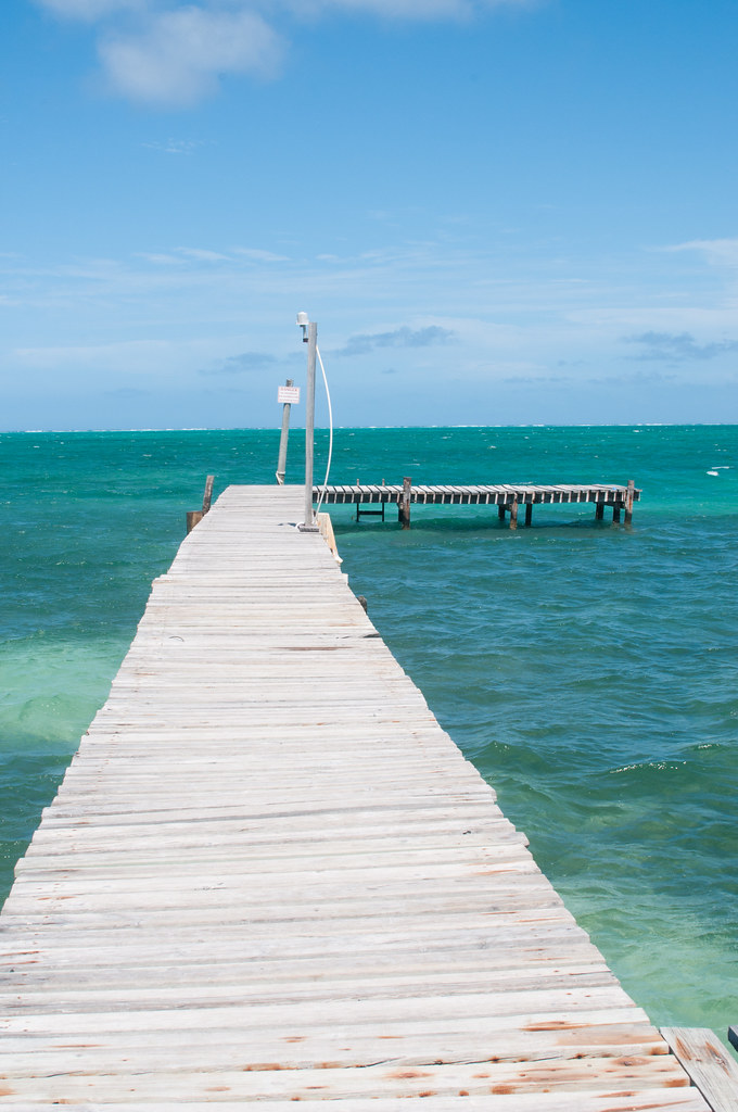 Dock in Caye Caulker, Belize