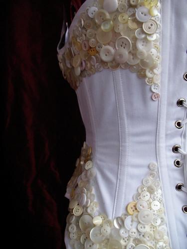 button corset - details back