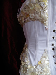 button corset - details back