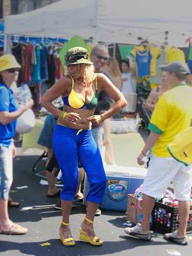 Brazilian lady dancing by you.