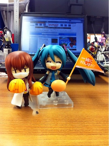 Nendoroid Hatsune Miku: Support version with Makise Kurisu