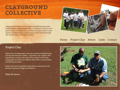An early design concept for the new Clayground Collective website