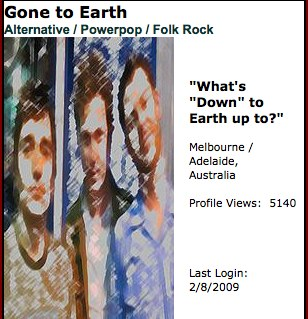 Gone to Earth on MySpace Music - Free Streaming MP3s, Pictures & Music Downloads