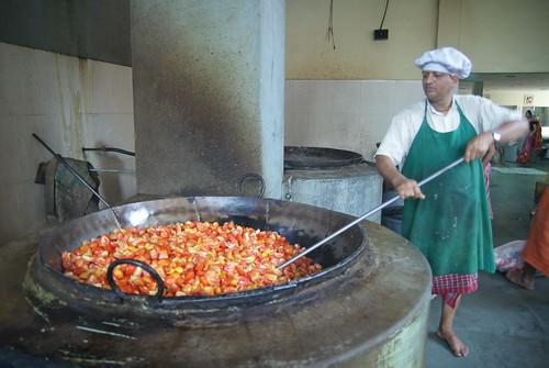 Subji preparation - Starting with tomatoes