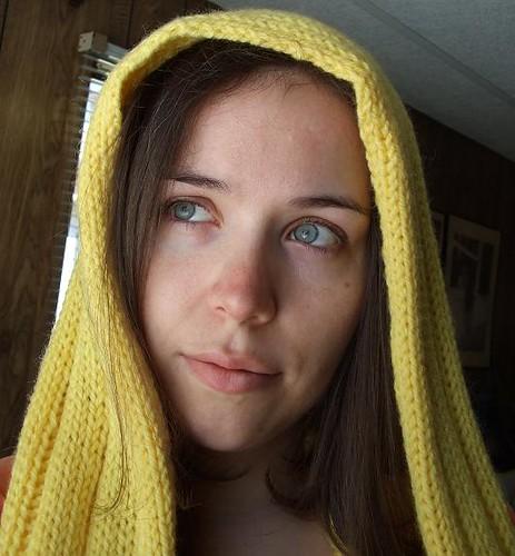 POW! Hooded Scarf - hood