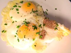 Eggs on Meatloaf Cake, MyLastBite.com