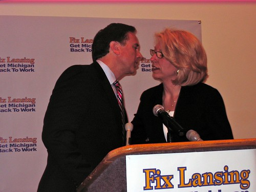 Michigan Secretary of State Terri Lynn Land endorses Oakland County Sherrif Mike Bouchard for governor