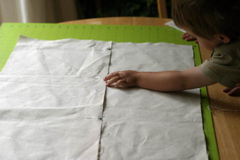 Fabric Box: Making a large enough piece of canvas