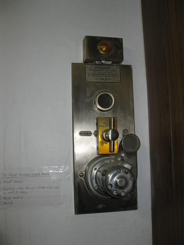 Vault related device, left behind by Poudre Bank