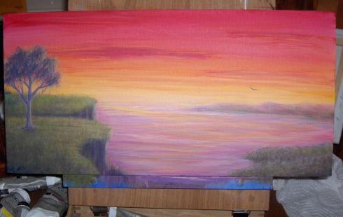 3-25-09- untitled sunset landscape - leahmcneir