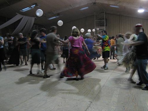 Contra dancing at LEAF