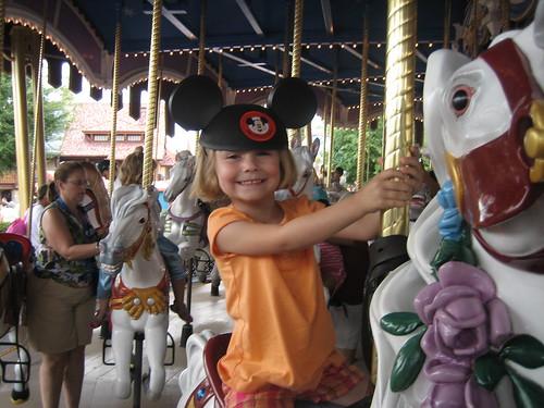 Sophia on Cinderellas favorite horse