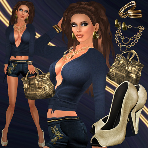 Navy & Gold Mix