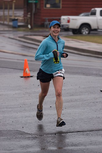 Sandra finishes the 23K with a smile
