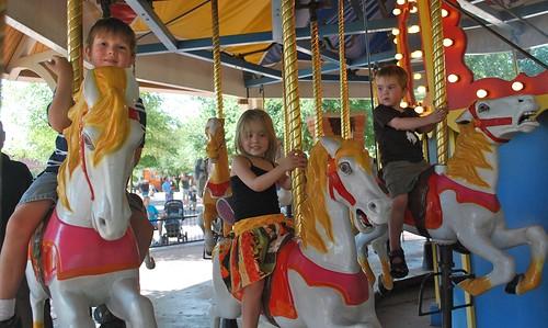 Kids on carrousel