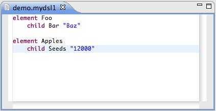 Resource - Demo/demo.mydsl1 - Eclipse SDK