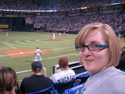 I'm at a baseball game!