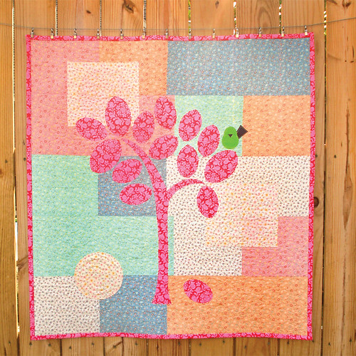 Tree and Bird Baby Quilt
