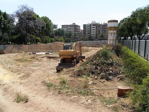 Destruccion zona verde Jardines Agricultura Cordoba
