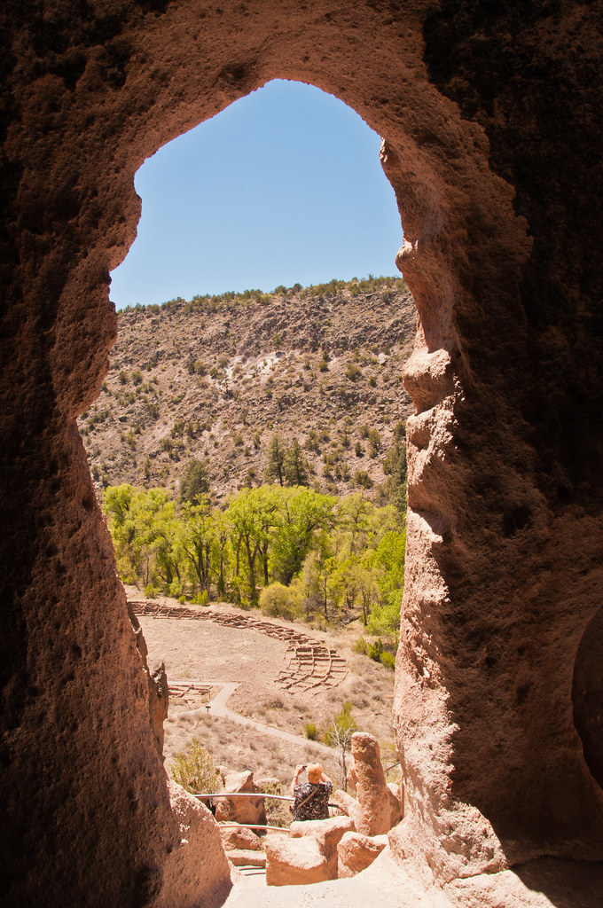 View from one of the cliff dwellings