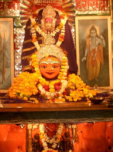Diosa Annapurna en el templo de Harsiddhi.