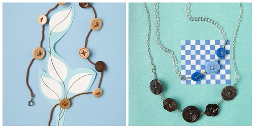 The Row of Buttons Necklaces