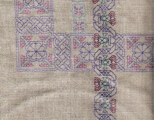 a corner of blackwork