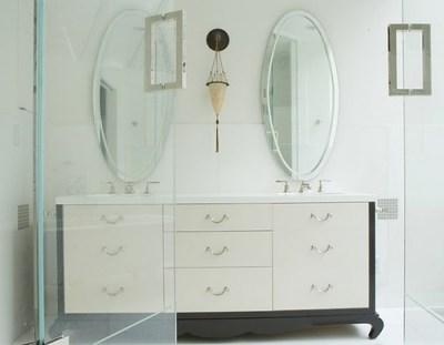 Blumenfeld Interiors asian bath vanity