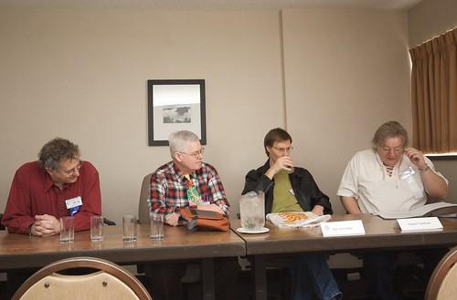 Michael Green, David G. Hartwell, Karl Schroeder and Hayden Trenholm at Ad Astra