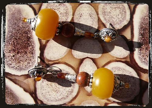 Orecchini gialli - Yellow earrings AIMEGAR