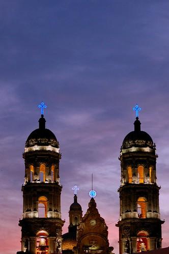 Campanarios de la Basilica de Zapopan , Jalisco Mexico