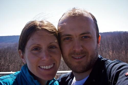 Melissa & Rob at Forest Glen observation tower